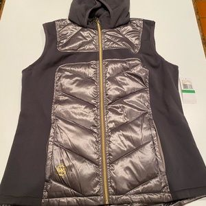 Women's Michael Kors Gray Vest w/ hood NEW